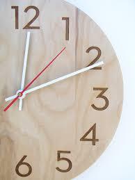 10 inch medium size modern wood wall clock with beautiful natural