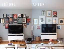design evolving hanging a gallery wall around a tv 2 0 design