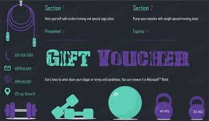 gym gift certificate template giftcard giftvoucher