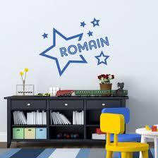 stickers pr駭om porte chambre sticker prénom dans les étoiles décoration murale personnalisé