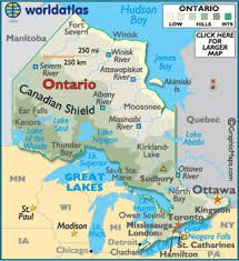 map of canada by province ontario map geography of ontario map of ontario worldatlas