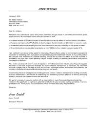 Executive Director Cover Letter Sample cover letter finance cover letter design sample for finance