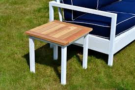 ana white rhyan end table diy projects ana white build a simple white outdoor end table free and easy