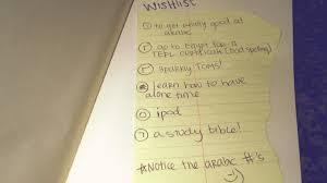 my wish list 30 days of lists list 10 wishlist