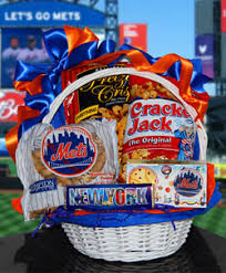 nyc gift baskets new york mets gift basket