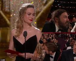 brie larson casey affleck brie larson leaves la after refusing to clap for affleck daily