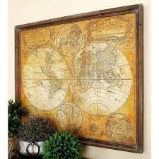 34 in x 41 in MDF Antique World Map Wall Decor The Home