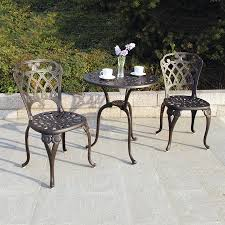 Bistro Patio Table Shop Darlee New Port 3 Bronze Metal Frame Bistro Patio