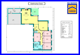 plain pied 4 chambres plan de maison de plain pied 4 chambres