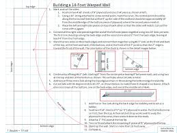 wall blueprints one sheet diy instructions for building a fourteen foot warped