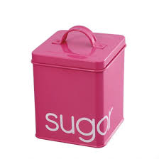 pink canisters kitchen kitchen tea coffee sugar canister retail colorful metal canister