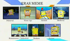 spongebobs by era by ragameechu on deviantart