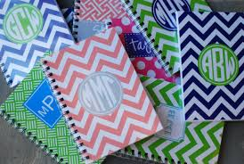 monogramed items items similar to personalized notebook spiral can be monogram