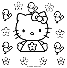 kitty coloring pages print coloringpagesnow