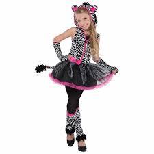 Kids Tiger Halloween Costume Sassy Stripes Zebra Girls Fancy Dress Animal Halloween Childrens