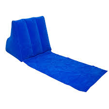 Beach Lounger Midasity Ltd Wicked Wedge Inflatable Lounger Blue Amazon Co Uk