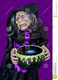 halloween animated witch scary witch with cauldron for candy stock photo image 46714714