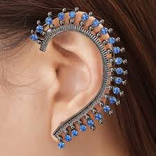 earring on ear ear cuff earrings are hot now