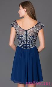 cap sleeve semi formal beaded dress promgirl