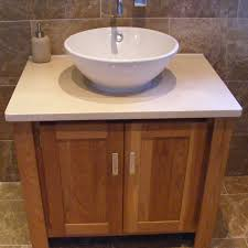solid oak crema marfil marble top vanity unit aspenn furniture