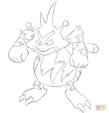 electabuzz coloring page free printable coloring pages