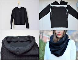 diy sweater 16 diy scarves easy ideas reusing t shirts sweaters and scraps