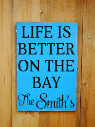 beach signs home decor personalized bay sign nautical beach decor family name wood