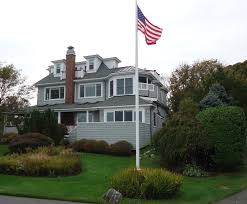 file marblehead massachusetts house on peninsula with flag and