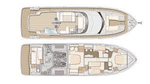 Luxury Yacht Floor Plans Azimut Magellano 66 Interior Design 2017 New Yacht Interiors