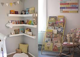 etagere murale chambre enfant un coin lecture pour les joli place