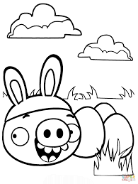 minion pig stealing easter eggs coloring free printable