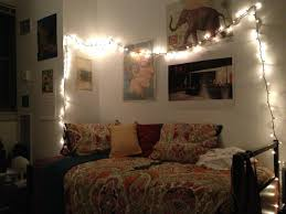 String Lighting For Bedrooms by Bedroom Beautiful Hipster Bedroom With Table Lamp And White