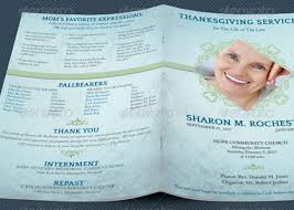 funeral bulletin template thanksgiving funeral program template godserv market