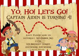 free printable jake neverland pirates birthday invitations