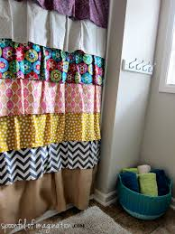 Simple Shower Curtains Diy Ruffled Shower Curtain Shower Curtains Fabrics And
