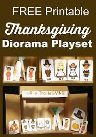 thanksgiving printable diorama playset