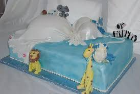 baby shower boy cake as pregnant dress with jungle animals