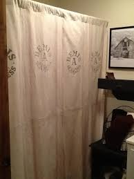 Burlap Looking Curtains Best 25 Primitive Shower Curtains Ideas On Pinterest Country