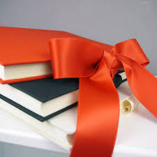silk satin ribbon linen photo album with silk satin ribbon by deservedly so