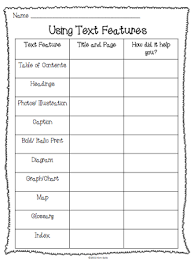 free non fiction text features packet this packet includes