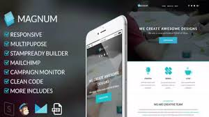 Responsive Email Template Psd by Magnum Responsive Email Template Themeforest Website Templates