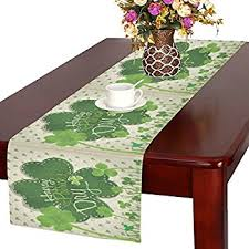 st patrick s day table runner amazon com dii embroidered clovers cotton table runner for st