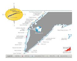 Map Of Roatan Honduras Roatan Underwater Underwater World Of Roatan