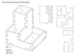 p1 press fit desk top organizer complete fabrication