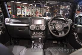 diesel jeep wrangler jeep wrangler unlimited dashboard at auto expo 2016 indian autos