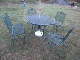 Mesh Patio Table Innovation Idea Antique Wrought Iron Patio Furniture Ebay Value