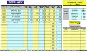 Expense And Profit Spreadsheet Ebay 12 Month Auction Accounting Sales Profit Expense Excel