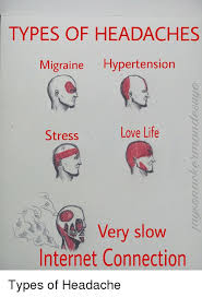 Slow Internet Meme - types of headaches migraine hypertension stress love life very slow