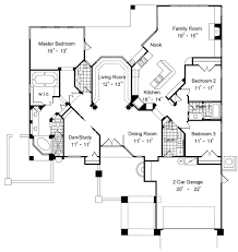 house plan with master bedrooms dashing one story plans two best