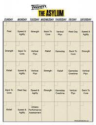 asylum workout calendar print a workout calendar